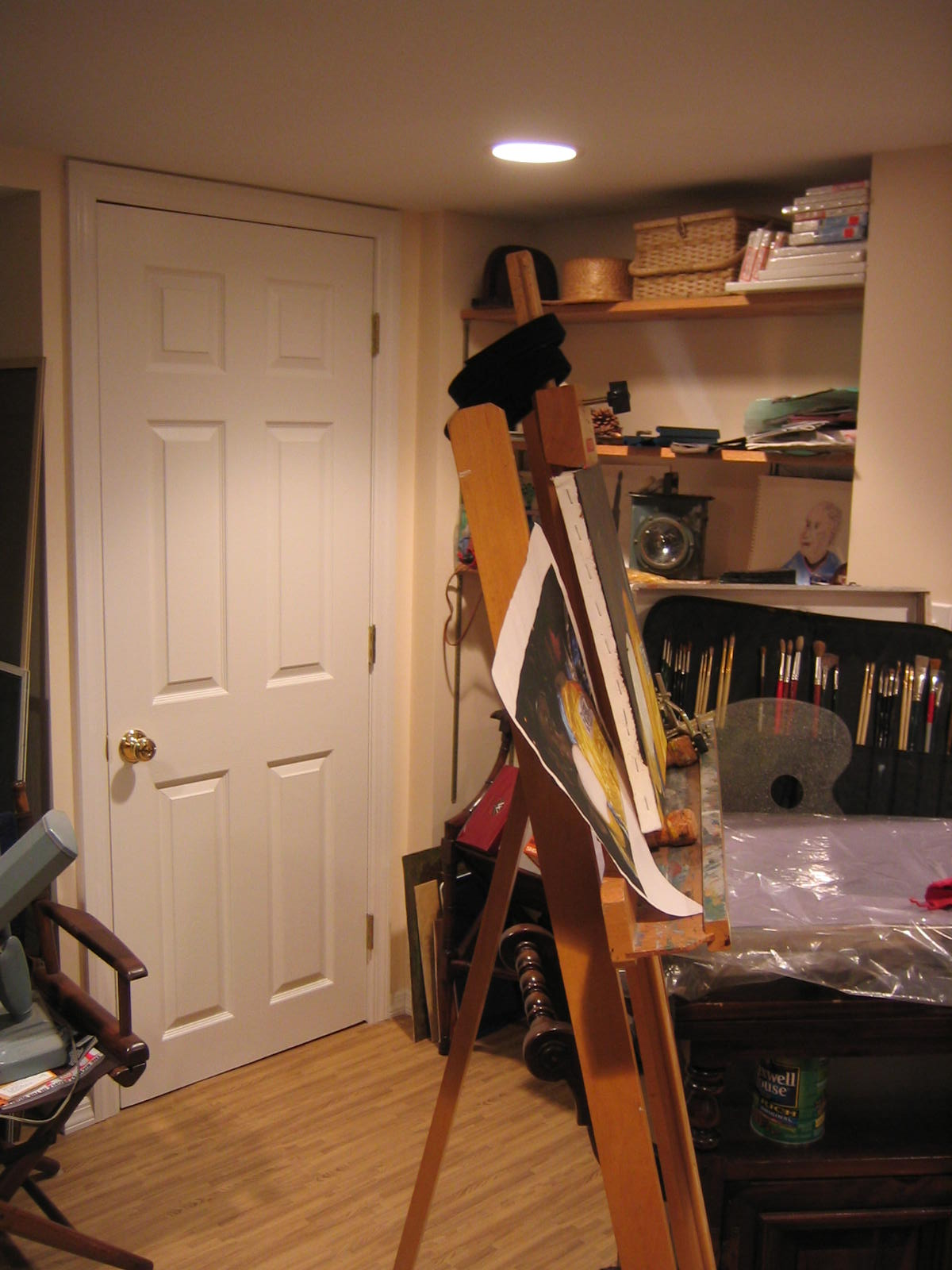 Basment Turned Into Art Studio And Laundry