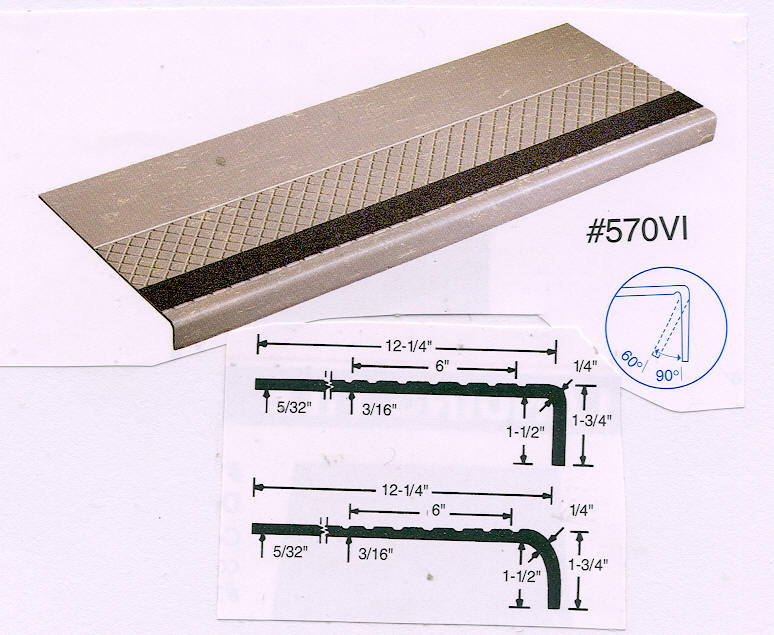 Rca Abrasive Strip Design Surface Rubber Stair Treads