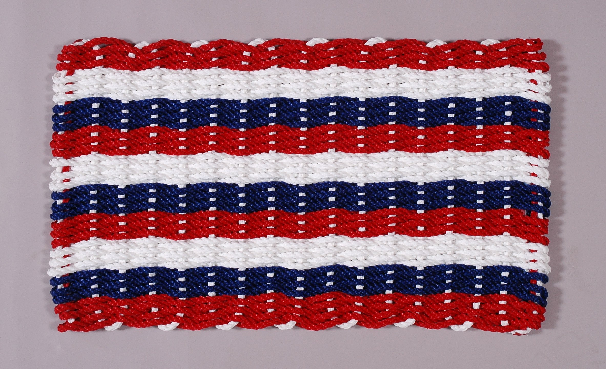 Red White And Blue Rope Door Mat