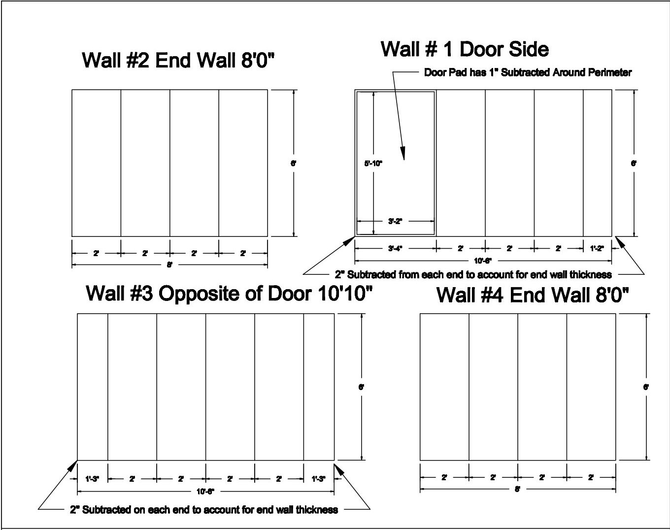 Wall Padding - Plan Drawing