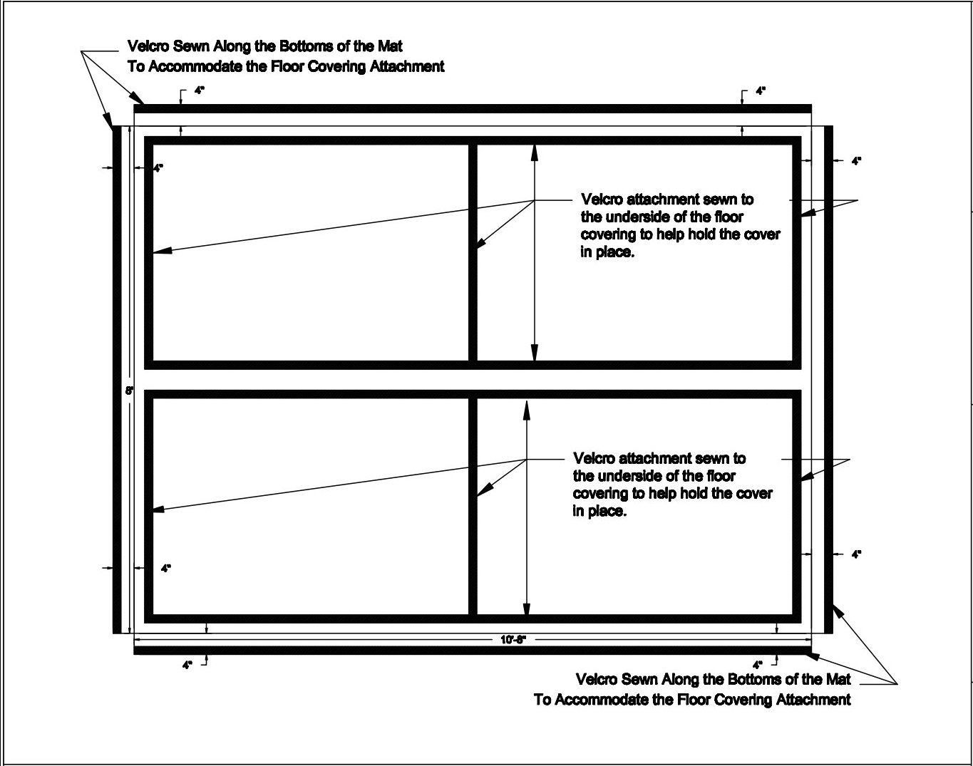 Unifying Top Cover for Floor Padding - Plan Drawing